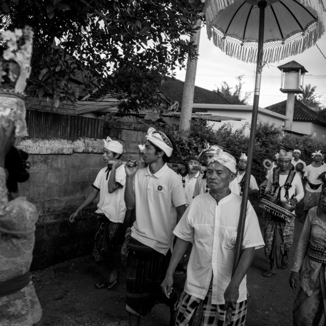 """""""Balinese procession"""" stock image"""