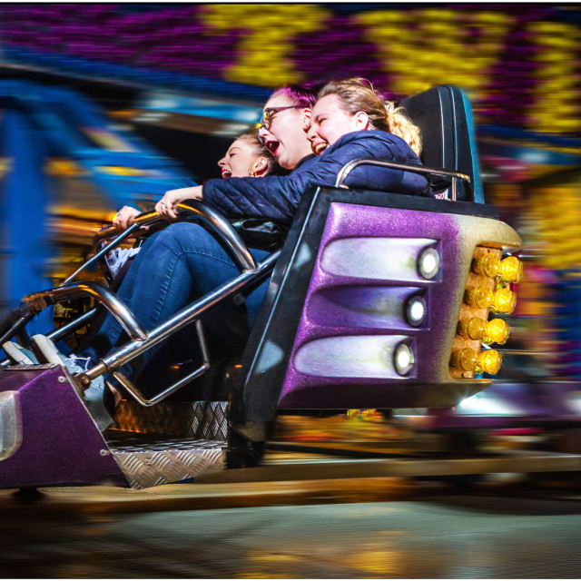 """Fairground ride fun"" stock image"