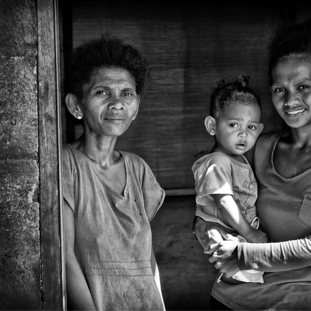 """Native Aeta family"" stock image"