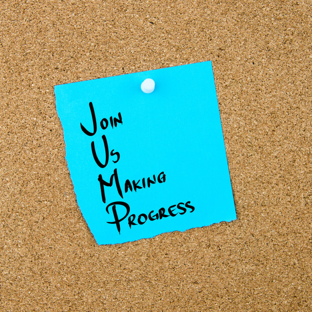 """""""Business Acronym JUMP as Join Us Making Progress"""" stock image"""