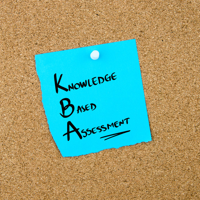 """""""Business Acronym KBA Knowledge Based Assessment"""" stock image"""