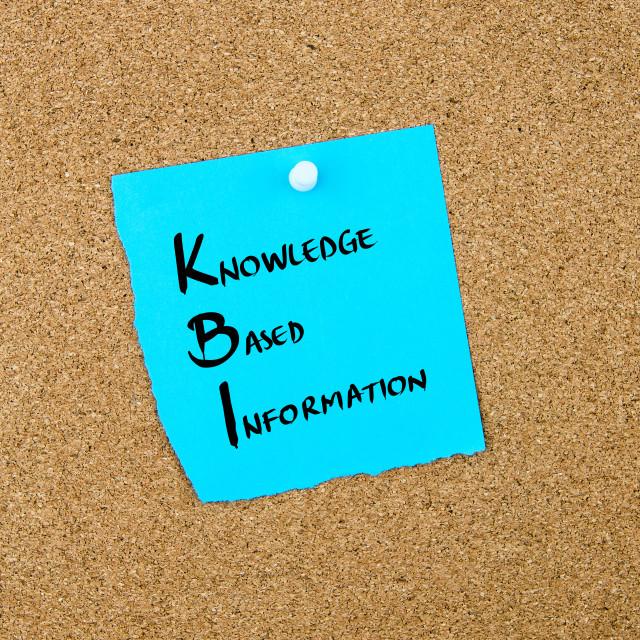 """Business Acronym KBI Knowledge Based Information"" stock image"