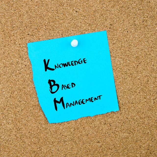 """Business Acronym KBM as Knowledge Based Management"" stock image"