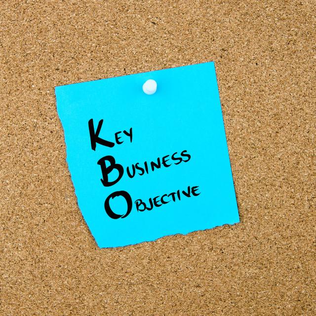 """Business Acronym KBO Key Business Objective"" stock image"