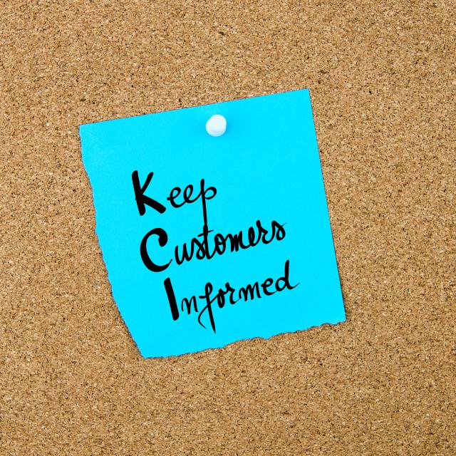"""Business Acronym KCI Keep Customers Informed"" stock image"