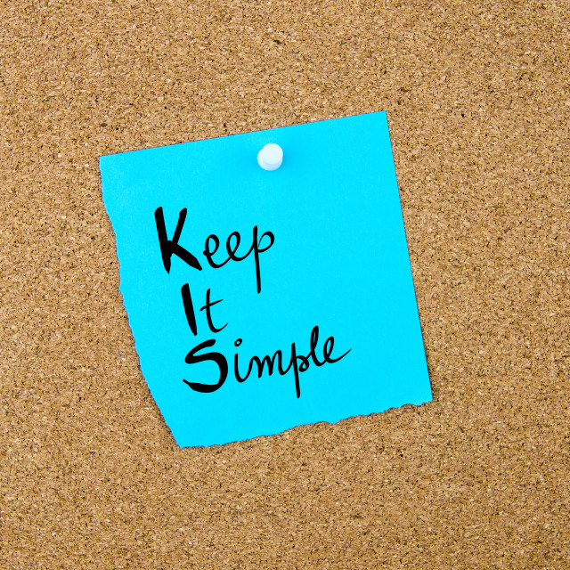 """Business Acronym KIS Keep It Simple"" stock image"