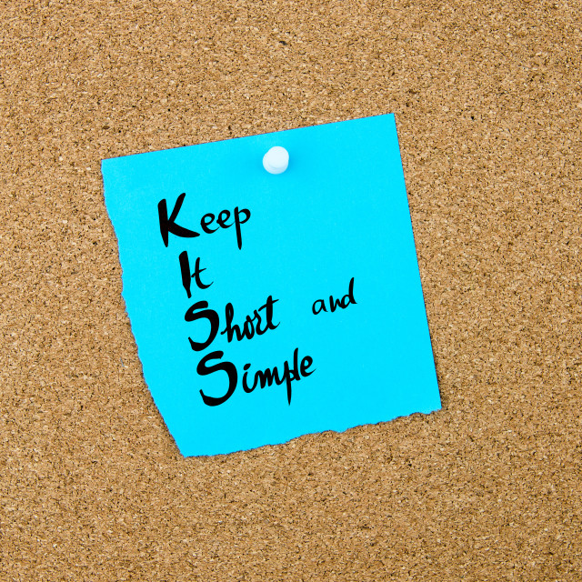 """""""Business Acronym KISS as Keep It Short and Simple"""" stock image"""