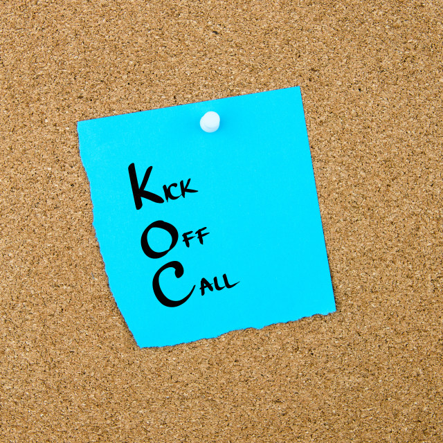 """Business Acronym KOC Kick Off Call"" stock image"