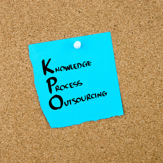 """""""Business Acronym KPO as Knowledge Process Outsourcing"""" stock image"""