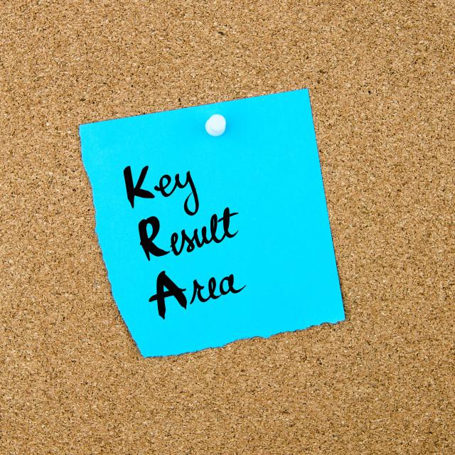 """Business Acronym KRA as Key Result Area"" stock image"
