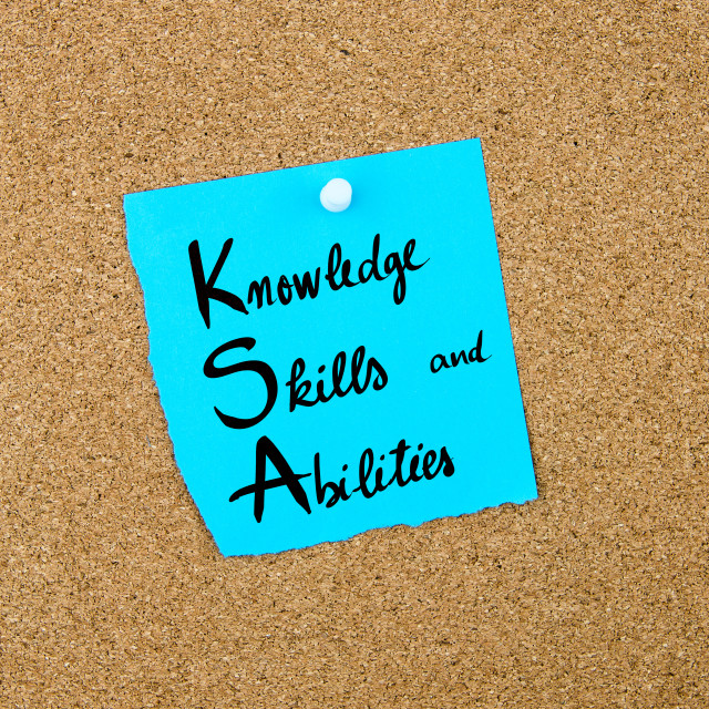 """""""Business Acronym KSA as Knowledge, Skills and Abilities"""" stock image"""