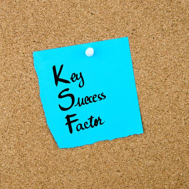 """Business Acronym KSF as Key Success Factor"" stock image"