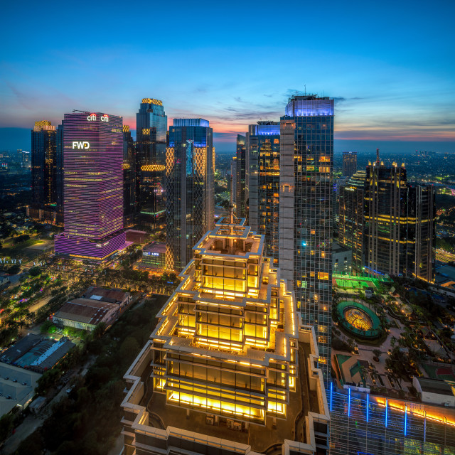 """Sudirman Central Business District - Dark 1"" stock image"