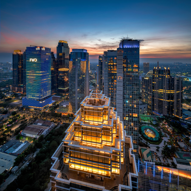 """Sudirman Central Business District - Light"" stock image"