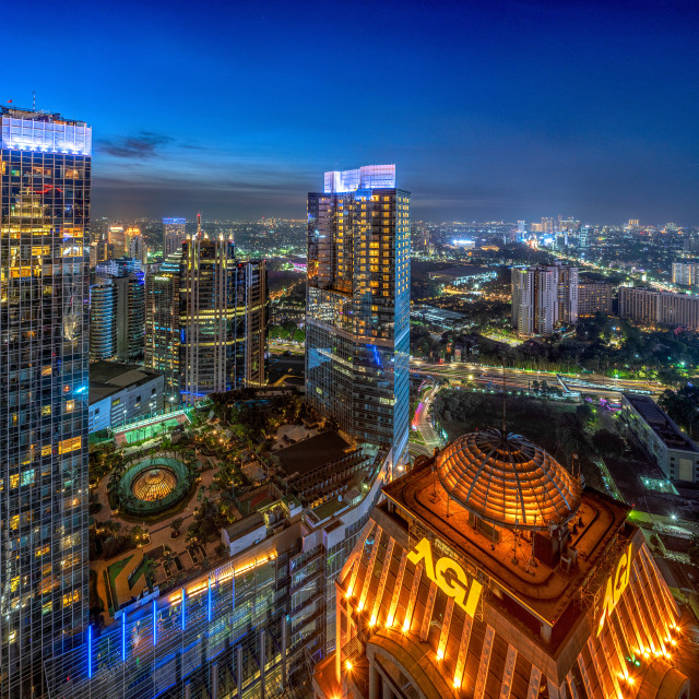 """Sudirman Central Business District - Dark 2"" stock image"