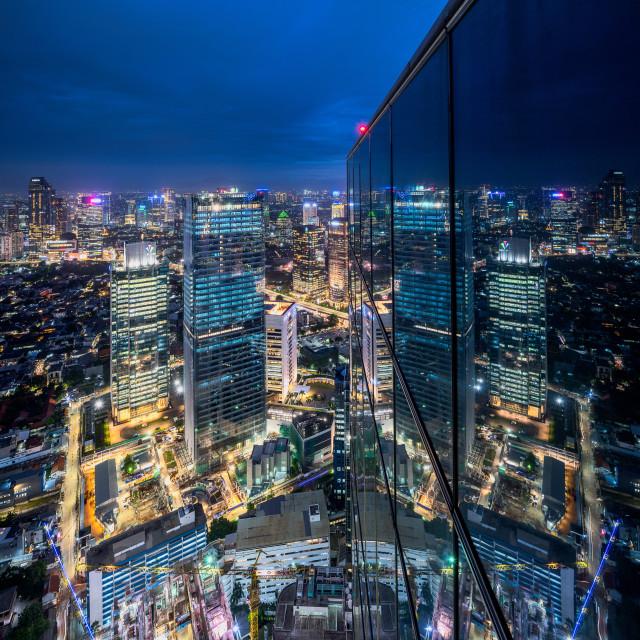 """Jalan Sudirman - Reflections"" stock image"