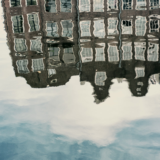 """Amsterdam Reflection"" stock image"
