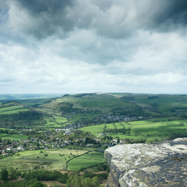 """Curbar Edge"" stock image"