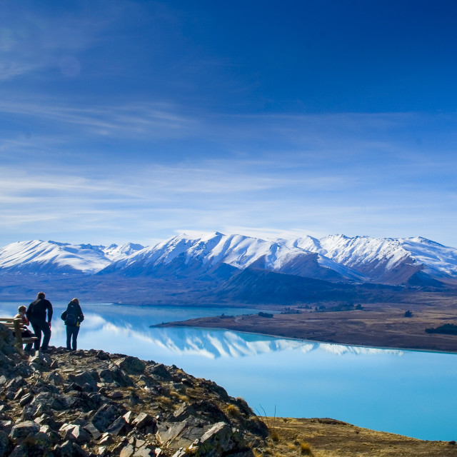 """View over Lake Tekapo"" stock image"