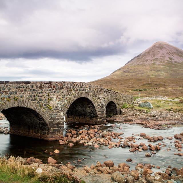 """""""Sligachan bridge - Isle of Skye"""" stock image"""