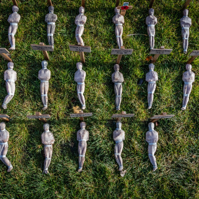 """""""Shrouds of the Somme installation"""" stock image"""
