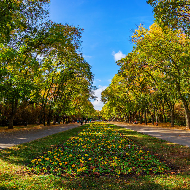 """Autumn in sea Garden Park, Varna Bulgaria"" stock image"