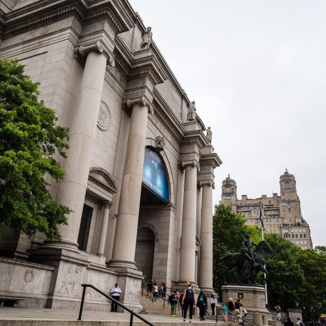 """""""Exterior view of American Museum of Natural History"""" stock image"""