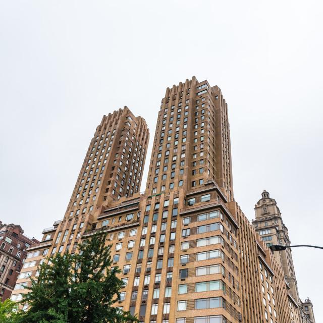 """""""The Dakota building in New York City"""" stock image"""