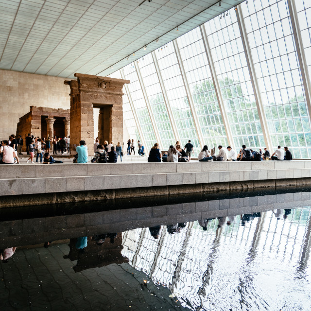 """The Temple of Dendur in the Metropolitan Museum of New York"" stock image"