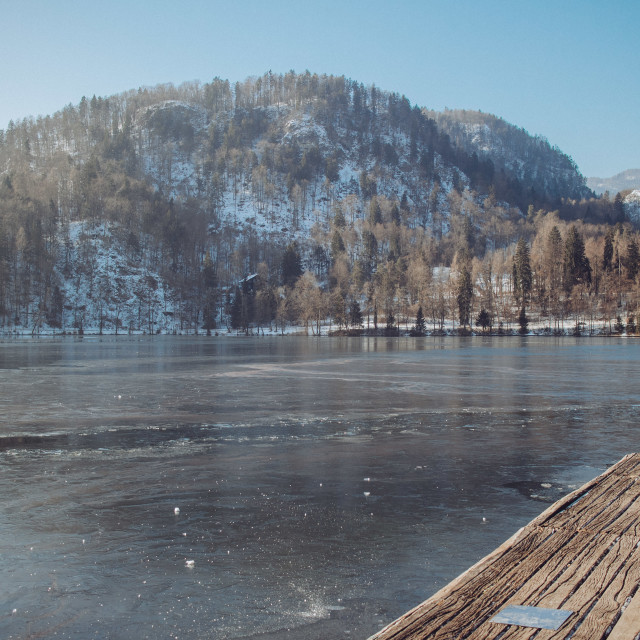 """Frozen Lake Bled"" stock image"