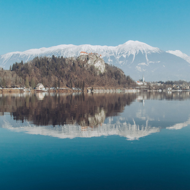"""View from Lake Bled"" stock image"