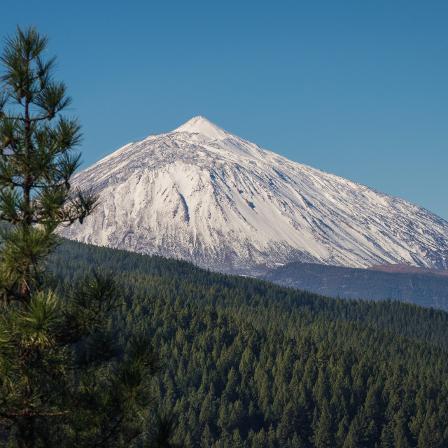 """""""Teide mountain, Tenerife. Amazing mountain in the middle of the"""" stock image"""