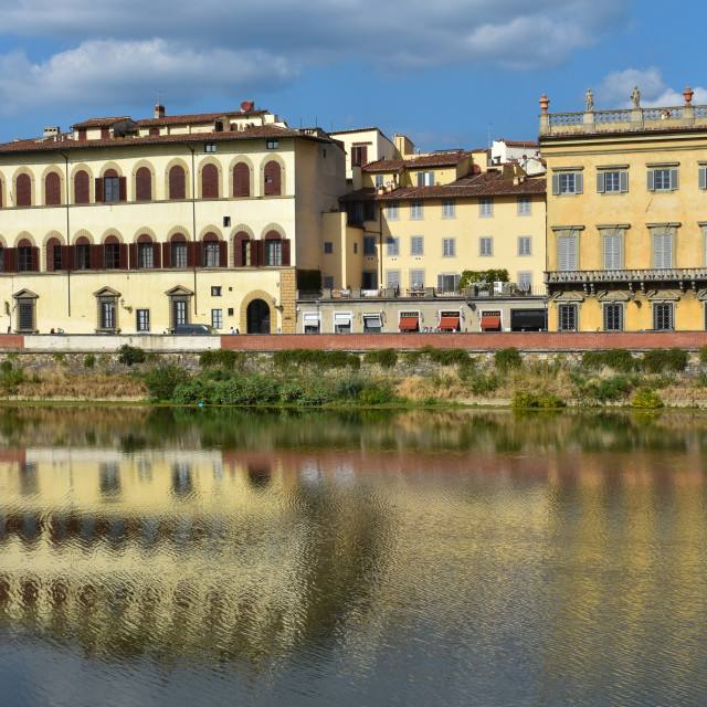 """""""Across the River Arno"""" stock image"""