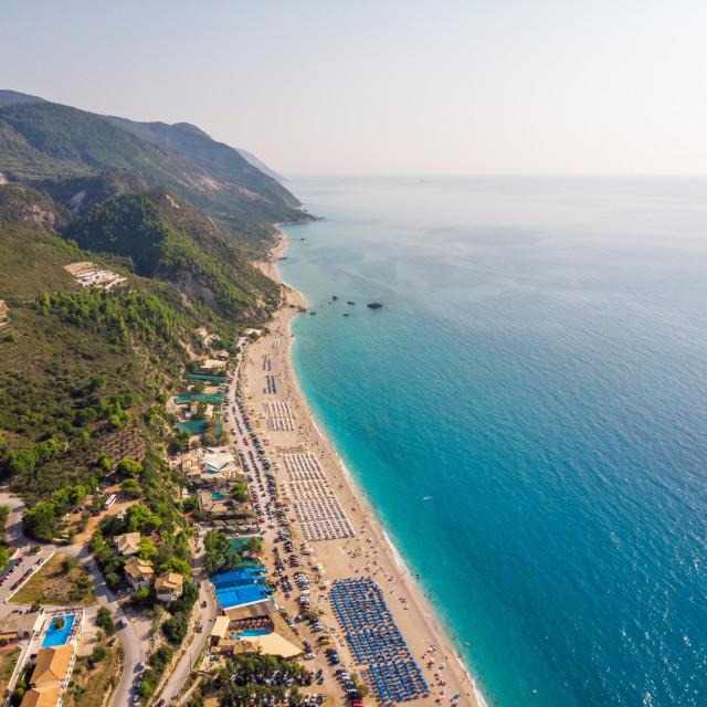 """Kathisma Beach, Lefkada, Ionian Islands, Greece."" stock image"