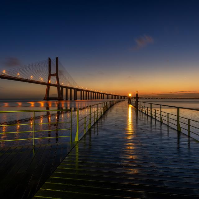 """Vasco da Gama bridge"" stock image"