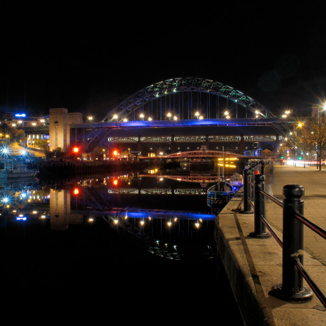 """Quayside in Newcastle upon Tyne"" stock image"