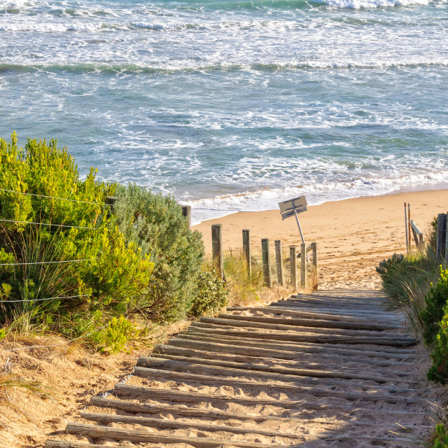 """""""To the beach - Point Lonsdale"""" stock image"""