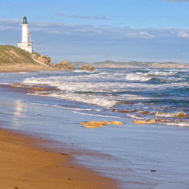 """""""Stroll on the beach - Point Lonsdale"""" stock image"""