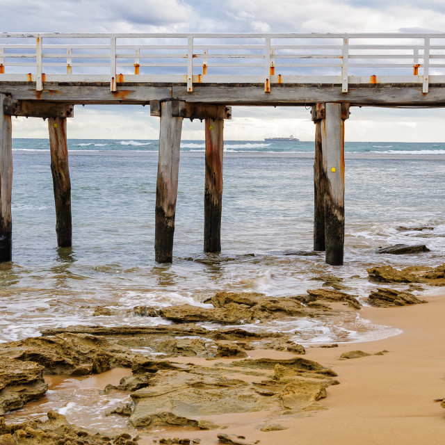 """""""Point Lonsdale Pier"""" stock image"""