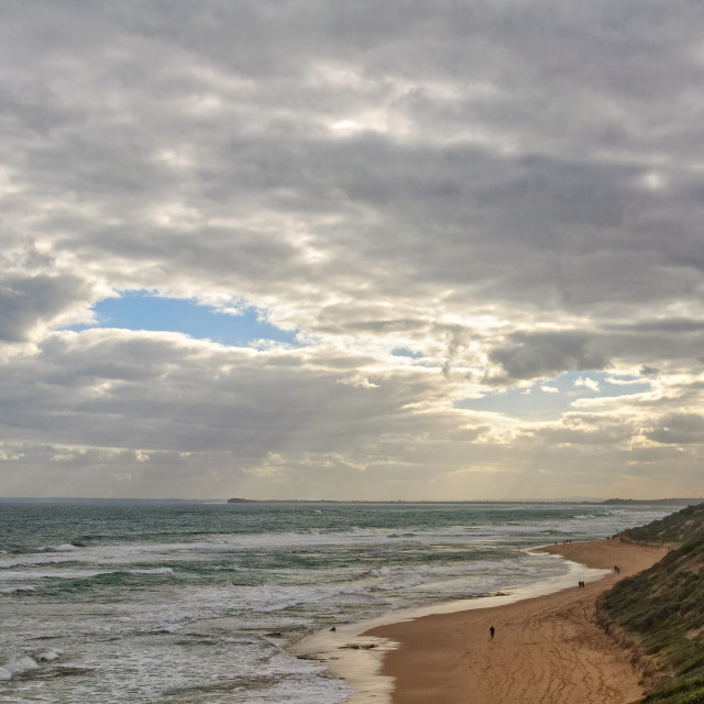 """""""Small patch of blue sky - Point Lonsdale"""" stock image"""