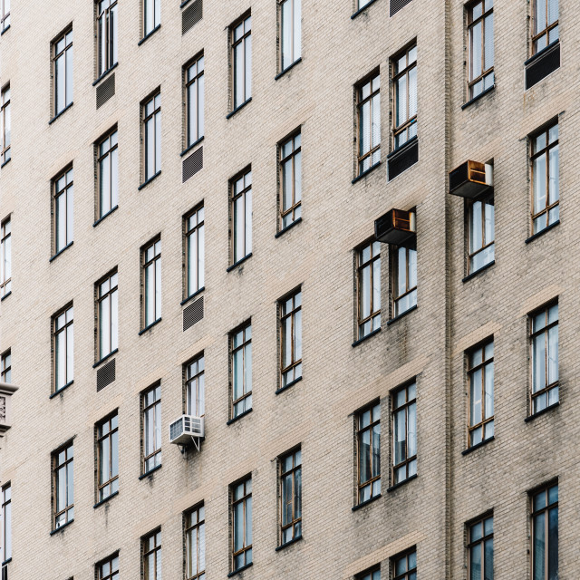 """""""Window pattern in facade of residential buildings"""" stock image"""