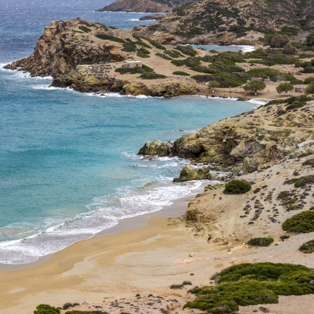 """Sand beach, Crete, Greece"" stock image"