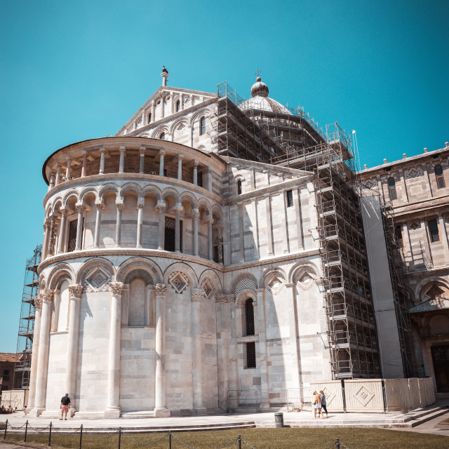 """""""Cathedral in famous town pisa on Piazza dei Miracoli square"""" stock image"""