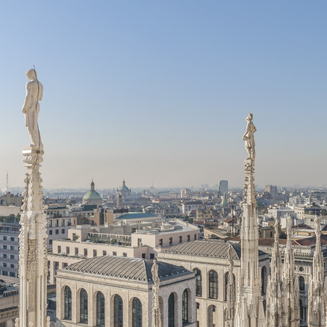 """Aerial View Milan City, Italy"" stock image"