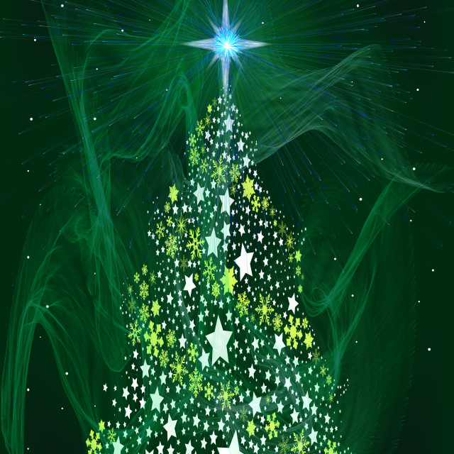 """Green Star Christmas Tree"" stock image"