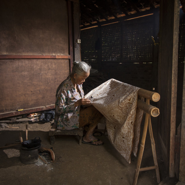 """The Making of Batik"" stock image"