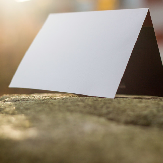 """""""card on a stone"""" stock image"""