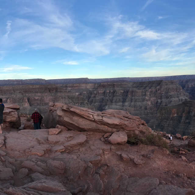 """A panorama of the Grand Canyon"" stock image"