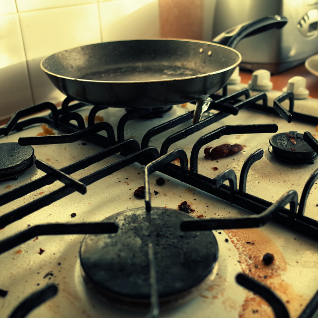 """Dirty hob"" stock image"