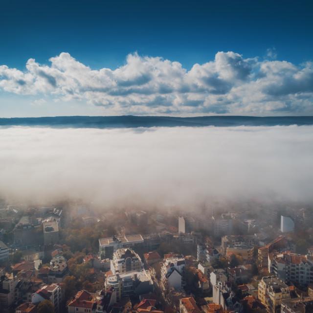 """""""Varna, Bulgaria aerial drone view. Beautiful panorama of Varna c"""" stock image"""